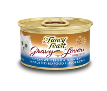 Fancy Feast Gravy Lovers Ocean Whitefish & Tuna Feast 85g