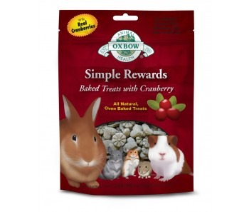 Oxbow Simple Rewards Baked Treats with Craneberry 60g