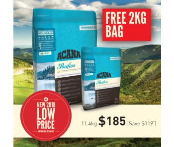 Acana Regionals Dog Pacifica - (11.4kg + F.O.C. 2kg)