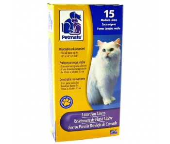 Petmate Cat Litter Box Liner 15 Medium