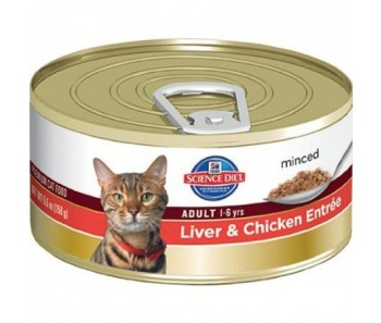Science Diet Feline Canned Adult Liver & Chicken Entrée - 5.5oz