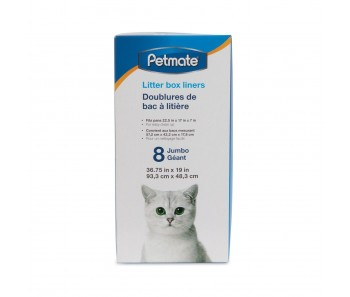 Petmate Cat Litter Box Liner 8 Jumbo