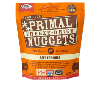 Primal Freeze-Dried Canine Beef Formula - 14oz.