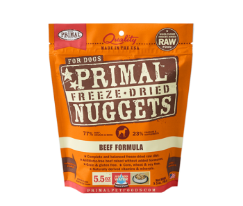 Primal Freeze-Dried Canine Beef Formula - 5.5oz.