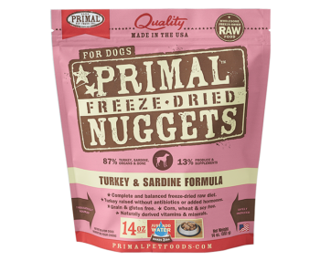 Primal Freeze-Dried Canine Turkey & Sardine Formula - 14oz.