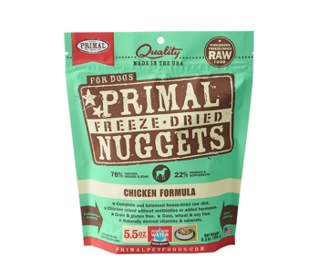 Primal Freeze-Dried Canine Chicken Formula - 5.5oz.