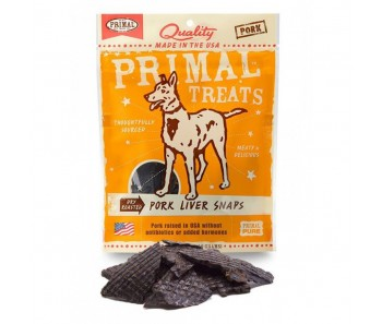 Primal Treats Dry Roasted Pork Liver Snaps 4.25oz