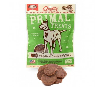 Primal Treats Jerky Organic Chicken Chips 3oz