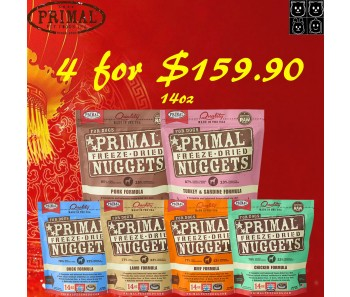 'Primal Freeze-Dried Canine 14oz (Quartet Bundle Mix) - Buy 4 For $159