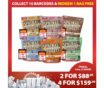 'Primal Freeze-Dried Canine 14oz (Quartet Bundle Mix) - Buy 4 For $159.90