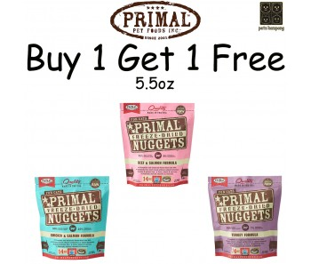 'Primal Freeze-Dried Feline 5.5oz (Duo Bundle Mix) - Buy 1 Get 1 Free