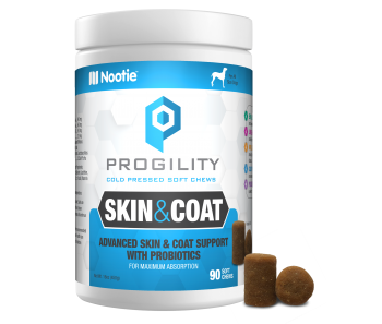 Progility Skin & Coat With Probiotics – 90 Soft Chews