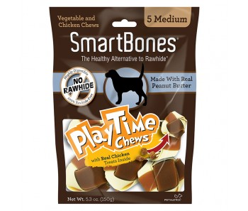 SmartBones Play Time Chews Peanut Butter Medium - 5pcs