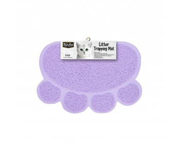 Kit Cat Litter Trapping Mat (Large) - Purple