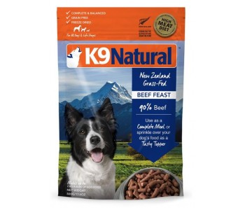 K9 Natural Freeze Dried Beef Feast - Available in 500g, 1.8kg & 3.6kg