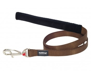 Red Dingo Dog Fixed Length Lead Classic - Brown - Available In S, M, ML & L