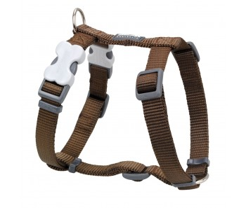 Red Dingo Dog Harness Classic - Brown - Available In S, M, ML & L