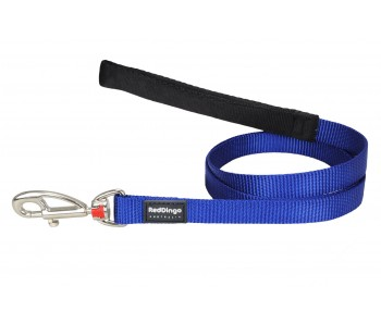 Red Dingo Dog Fixed Length Lead Classic - Dark Blue - Available In S, M, ML & L