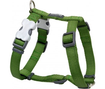 Red Dingo Dog Harness Classic - Green - Available In S, M, ML & L