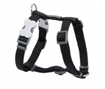 Red Dingo Dog Harness Classic - Black - Available In S, M, ML & L