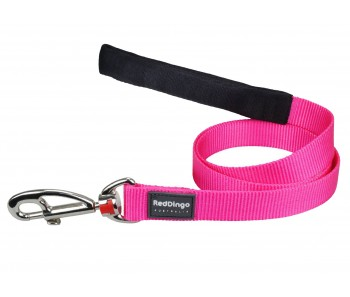 Red Dingo Dog Fixed Length Lead Classic - Hot Pink - Available In S, M, ML & L