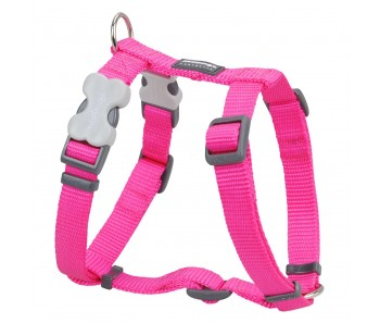 Red Dingo Dog Harness Classic - Hot Pink - Available In S, M, ML & L