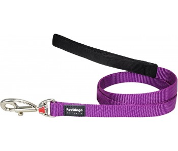 Red Dingo Dog Fixed Length Lead Classic - Purple - Available In S, M, ML & L