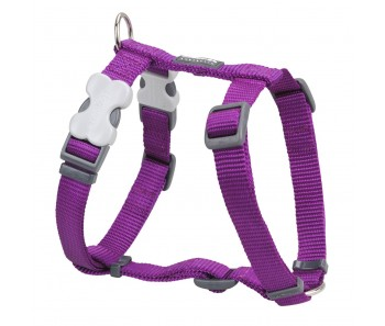 Red Dingo Dog Harness Classic - Purple - Available In S, M, ML & L
