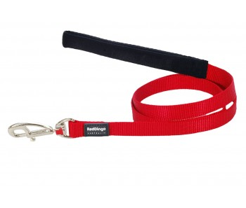 Red Dingo Dog Fixed Length Lead Classic - Red - Available In S, M, ML & L