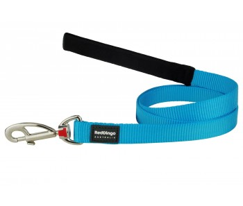Red Dingo Dog Fixed Length Lead Classic - Turquoise - Available In S, M, ML & L
