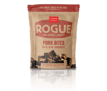 Cloud Star Rogue Air-Dried Pork Bites Dog Treats 85g