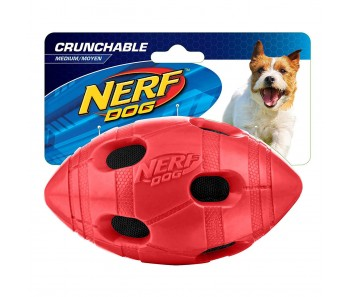 Nerf Dog Crunchable Football M - Green/Red