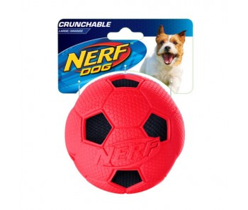 Nerf Dog Crunchable Soccer Ball S - Blue/Red