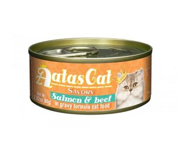 Aatas Cat Savory Salmon & Beef in Gravy 80g