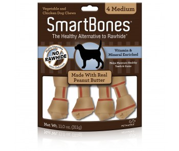 SmartBones Peanut Butter Medium - 4pcs