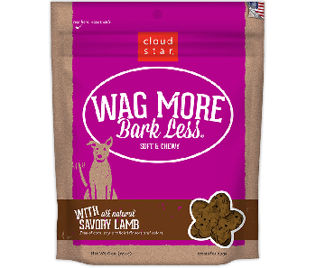 Cloud Star Wag More Bark Less Soft & Chewy Savory Lamb Dog Treats 170g