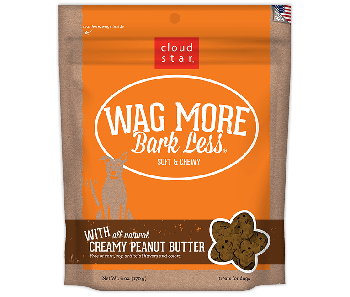 Cloud Star Wag More Bark Less Soft & Chewy Creamy Peanut Butter Dog Treats 170g