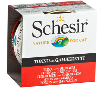 Schesir Cat Canned Jelly Tuna with Shrimp 85g