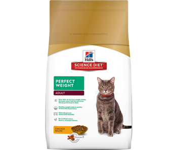 Science Diet Feline Adult Perfect Weight - Available in 3lbs & 15lbs