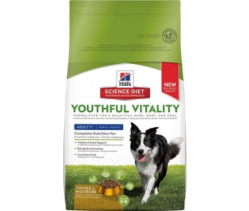 Science Diet Canine Youthful Vitality Adult 7+ Chicken & Rice Recipe 21.5lbs