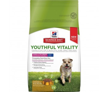 Science Diet Canine Youthful Vitality Adult 7+ Small & Toy Breed Chicken & Rice Recipe 12.5lbs