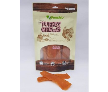 A Freschi srl Chews - Sliced Turkey Tendon Stripe 120G