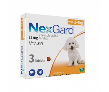 NexGard Chews For Small Dogs 2-4kg - Available in 3 & 6 Tablets