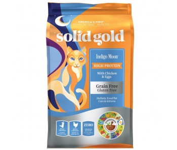 Solid Gold Cat GF Indigo Moon with Chicken & Egg 6lbs