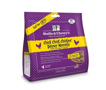 Stella & Chewy Cat Freeze Dried Dinner Morsels Chick, Chick, Chicken - Available in 9oz & 18oz