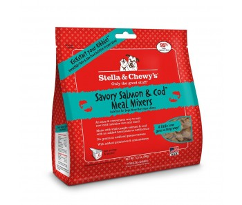 Stella & Chewy's Dog Meal Mixers Savory Salmon & Cod - Available in 9oz & 18oz