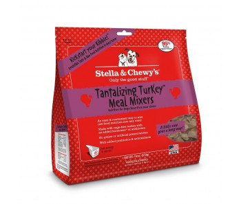 Stella & Chewy's Dog Meal Mixers Tantalizing Turkey - Available in 9oz & 18oz