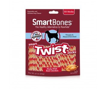 SmartBones Smart Twist Sticks Chcken - 50pcs (275g)