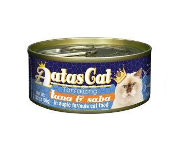 Aatas Cat Canned Tantalizing Tuna & Saba in Aspic 80g