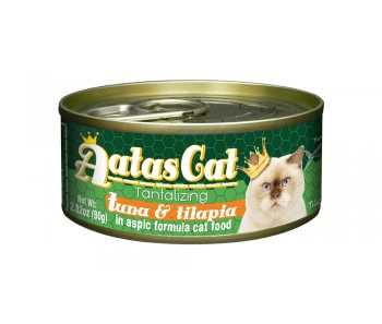 Aatas Cat Canned Tantalizing Tuna & Tilapia in Aspic 80g